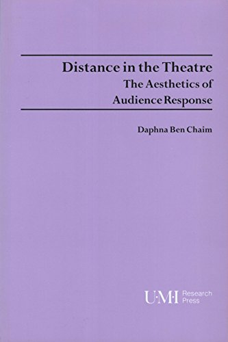 9780835719407: Distance in the Theatre: The Aesthetics of Audience Response (Theater and Dramatic Studies)