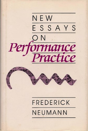 9780835719513: New Essays on Performance Practice (Studies in music)