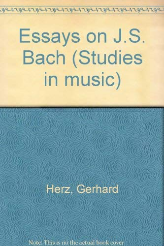 9780835719896: Essays on J.S. Bach (Studies in Musicology, 73)