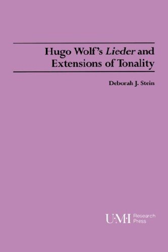 9780835719957: Hugo Wolf's Lieder and Extensions of Tonality (Studies in music)
