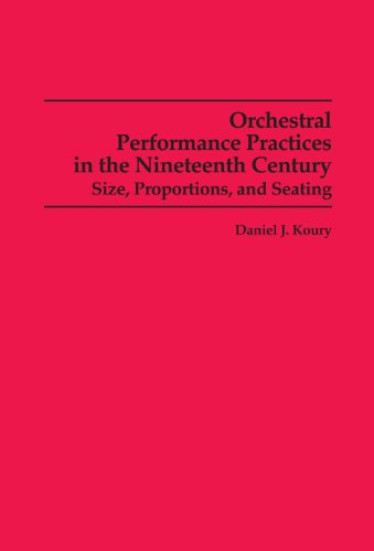 9780835720519: Orchestral Performance Practices in the Nineteenth Century: Size, Proportions, and Seating (Studies in music)
