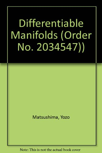 9780835760942: Differentiable Manifolds (Order No. 2034547))