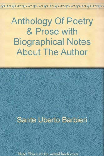 9780835804417: Anthology of poetry & prose: With biographical notes about the author