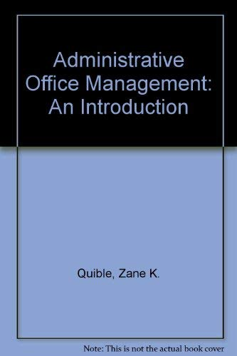 9780835900539: Administrative Office Management: An Introduction