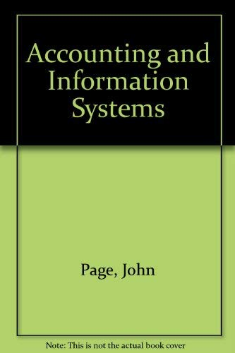 9780835900904: Accounting and Information Systems