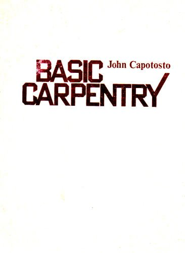9780835903684: Basic Carpentry