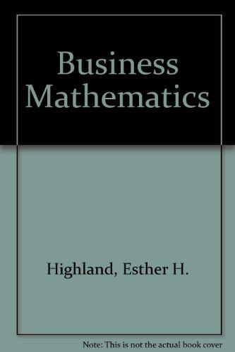 9780835905855: Business Mathematics