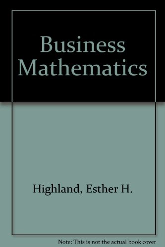 9780835905855: Business mathematics