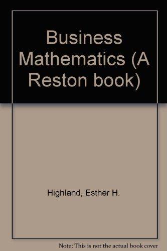 9780835905930: Business Mathematics (A Reston book)