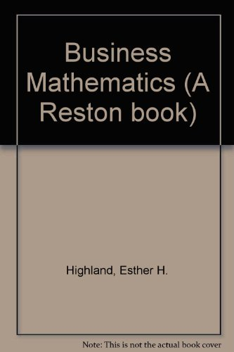 9780835905930: Business Mathematics (A Reston book)
