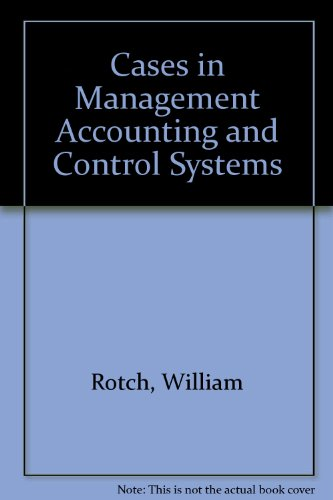 9780835907118: Cases in Management Accounting and Control Systems