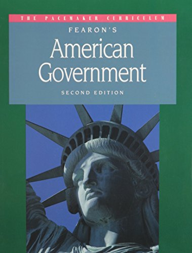 9780835910460: GF PACEMAKER AMERICAN GOVERNMENT SECOND EDITION SE 1995C (Pacemaker Curriculum American Government)