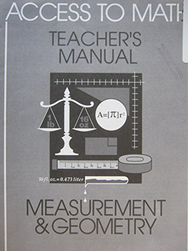 9780835915571: Access to Math: Measurement and Geomtry Trm 96 (Access to Math (Teacher's Guides))