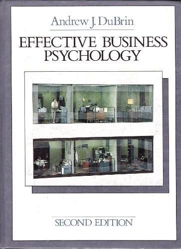9780835915700: Effective Business Psychology