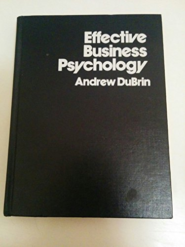 9780835916073: Effective Business Psychology