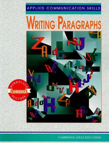9780835919159: Applied Communication Skills: Writing Paragraphs (Cambridge Workplace Success : Cambridge Adult Education)