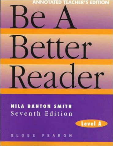9780835919180: Be a Better Reader, Level A, Annotated Teacher's Edition