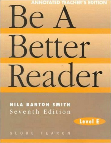 9780835919296: Be a Better Reader: Level E, Annotated Teacher Edition