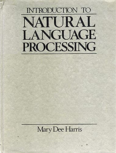 9780835932547: Introduction to Natural Language Processing