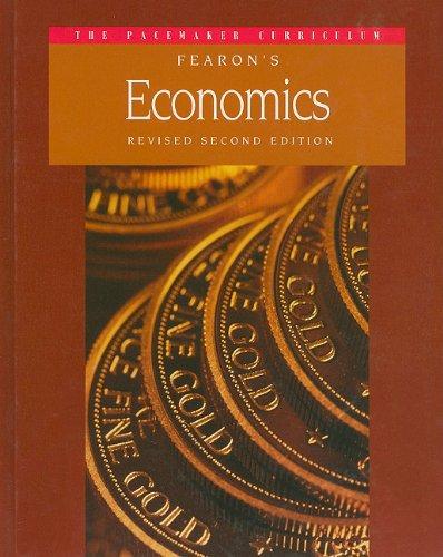 9780835932868: GF PACEMAKER ECONOMICS REVISED SECOND EDITION SE 1995C (Pacemaker Curriculum)