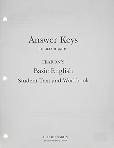 9780835933827: GF PACEMAKER BASIC ENGLISH SECOND EDITION ANSWER KEY 1995C