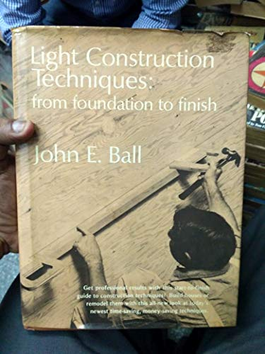 9780835940351: Light Construction Techniques: From Foundation to Finish