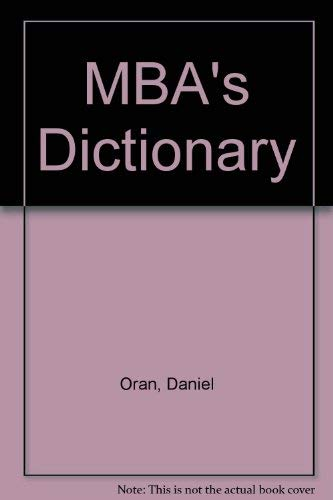 9780835941464: The Mba's Dictionary
