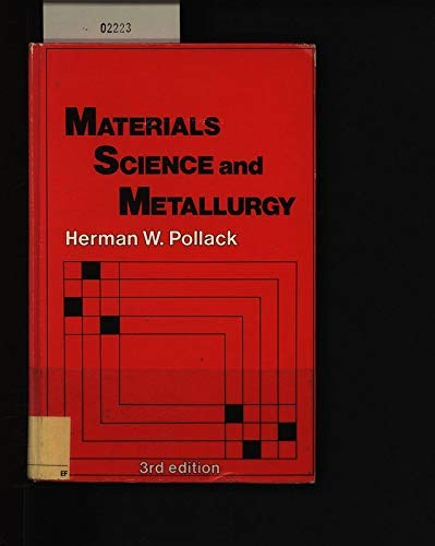 9780835942805: Materials Science and Metallurgy