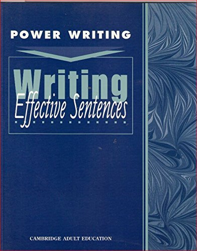 Writing Effective Sentences (Power Writing: Level 5-8): Cambridge Educational Services