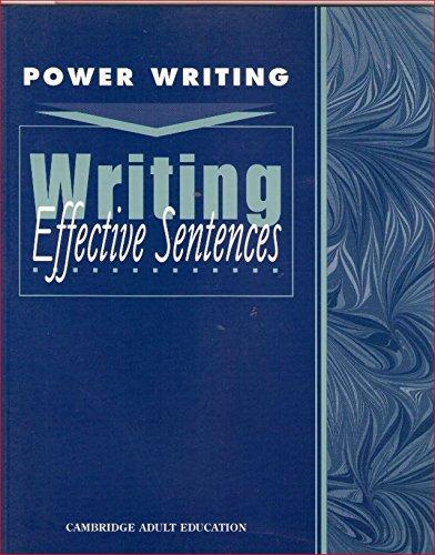 9780835946629: Writing Effective Sentences (Power Writing: Level 5-8)
