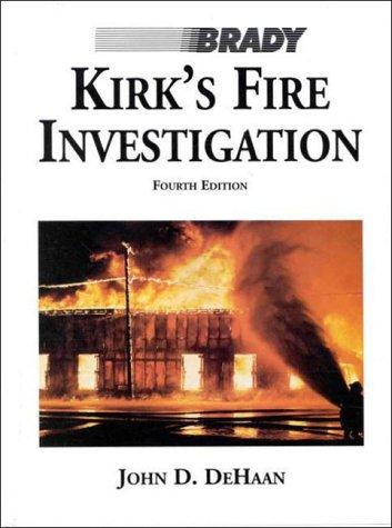 9780835950565: Kirks Fire Investigation