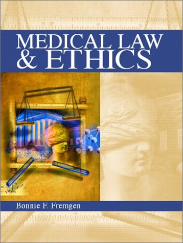 9780835951388: Medical Law & Ethics