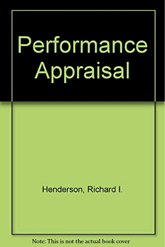 Performance Appraisal (0835954994) by Henderson, Richard I.