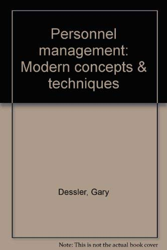 9780835955188: Personnel management: Modern concepts & techniques