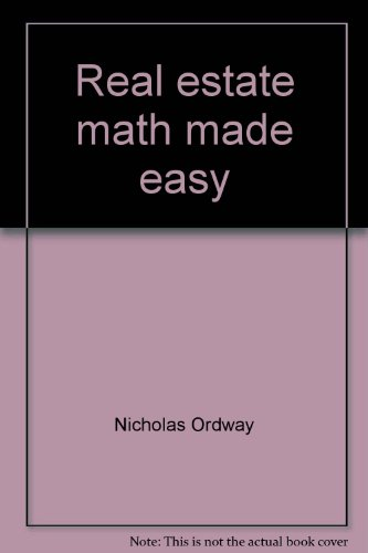 9780835965569: Real estate math made easy: A step-by-step self-instructional approach