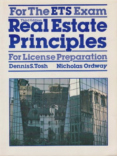 9780835965705: Real estate principles for license preparation for the ETS exam
