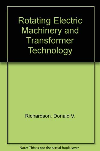 9780835967501: Rotating Electric Machinery and Transformer Technology