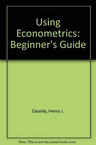 9780835981354: Using Econometrics: Beginner's Guide
