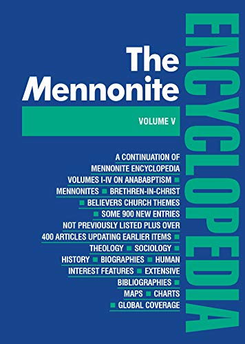 9780836131055: The Mennonite Encyclopedia: A Comprehensive Reference Work on the Anabaptist-Mennonite Movement (Volume V)