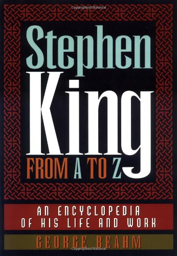 9780836269147: Stephen King from A to Z: An Encyclopedia of His Life and Work