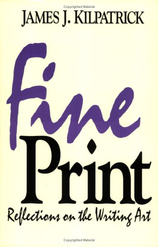 9780836280371: Fine Print: Reflections on the Writing Art