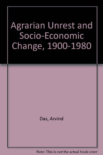 9780836409673: Agrarian Unrest and Socio-Economic Change in Bihar 1900-1980