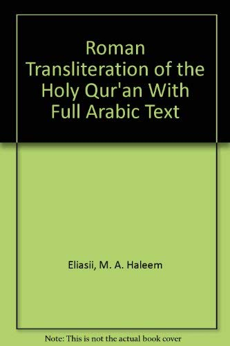 9780836409895: Roman Transliteration of the Holy Qur'an With Full Arabic Text