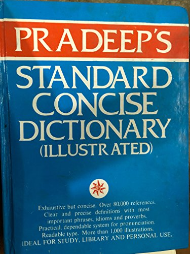 Pradeep's Standard Concise Dictionary (Illustrated : English: Asia Books South;