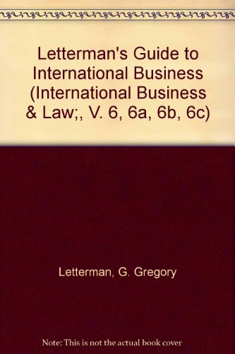 Letterman's Guide to International Business (International Business: Letterman, G. Gregory