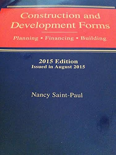 9780836614909: Construction and Development Forms - Planning, Financing, Building - 2015 Edition 4 Volume Set