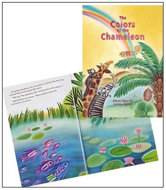 The Colors of the Chameleon: Alberto Benevelli; Illustrator-Loretta