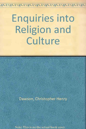 9780836903676: Enquiries into Religion and Culture