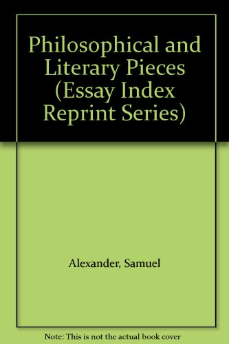 essay index literary philosophical piece reprint ser Philosophy essay writing service provides a key input to students as they attempt to write their papers by providing essential tips for philosophy essay writing the topic choice for philosophical essay writing is essential it is important for the writer to determine a good branch of study within philosophy.