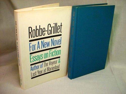 9780836918441: For a New Novel (Essay index reprint series)